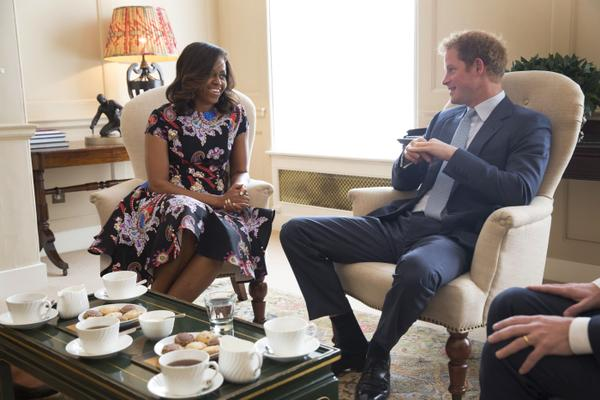 Prince Harry and Michelle Obama