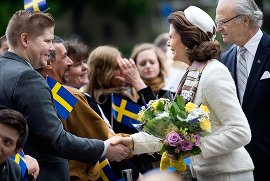 Queen Silvia and King Carl XVI Gustaf celebrating National Day in Örebro