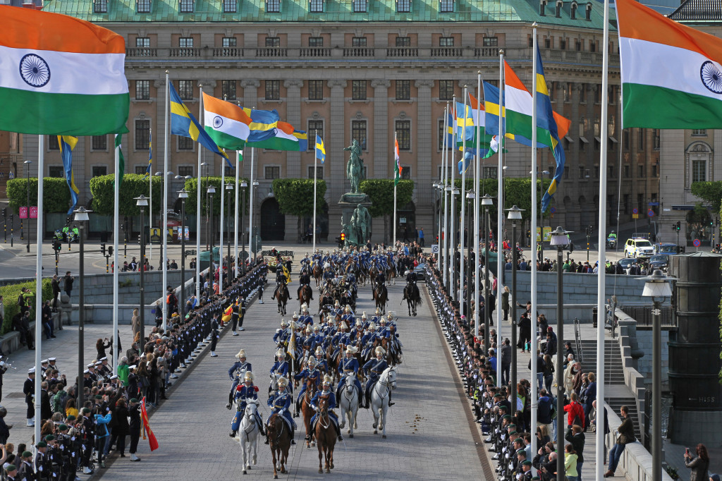 Sweden State Visit from India carriage procession