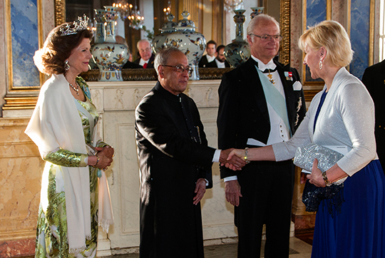 Sweden State Visit from India gala dinner King, Queen, President