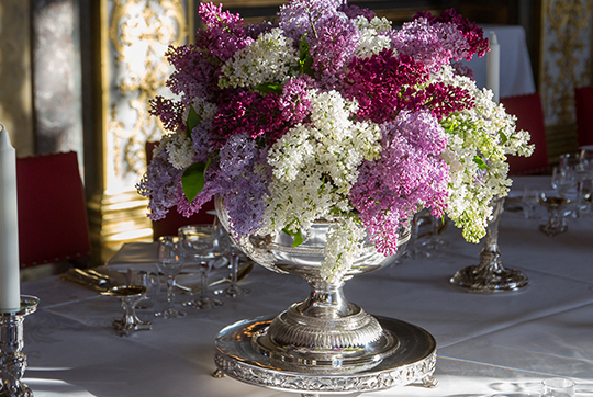 Sweden State Visit from India gala dinner centerpiece