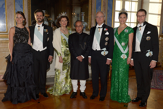 Sweden State Visit from India gala dinner royal family