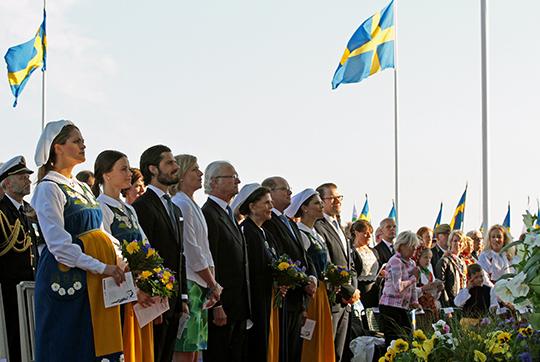 Swedish royal family celebrating National Day