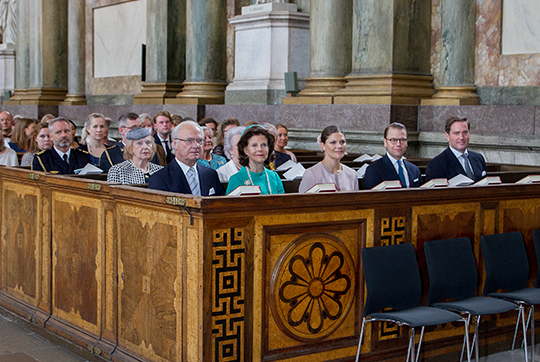 Swedish royals attend Te Deum
