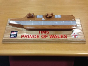 HMS Prince of Wales toy boat