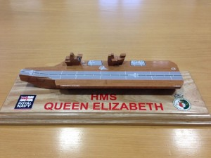 HMS Queen Elizabeth toy boat