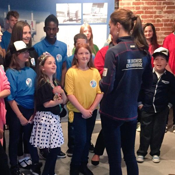 Kate meets kids America's cup 2