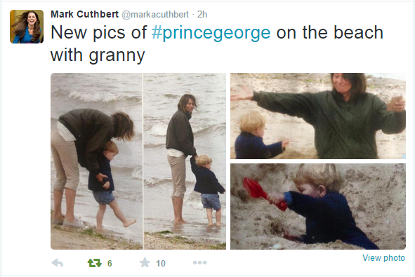 Prince George at the beach 1