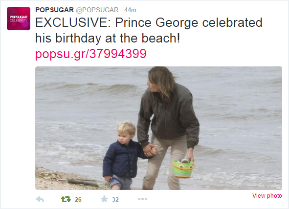 Prince George at the beach 2
