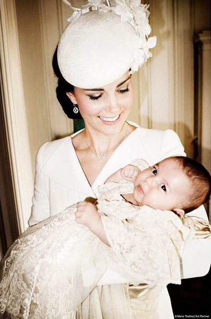 Princess Charlotte Christening Photo Kate and Charlotte