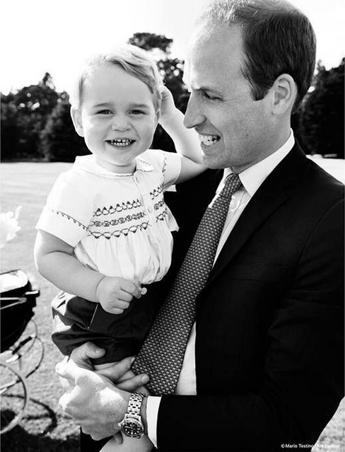 Princess Charlotte Christening Photo William and George