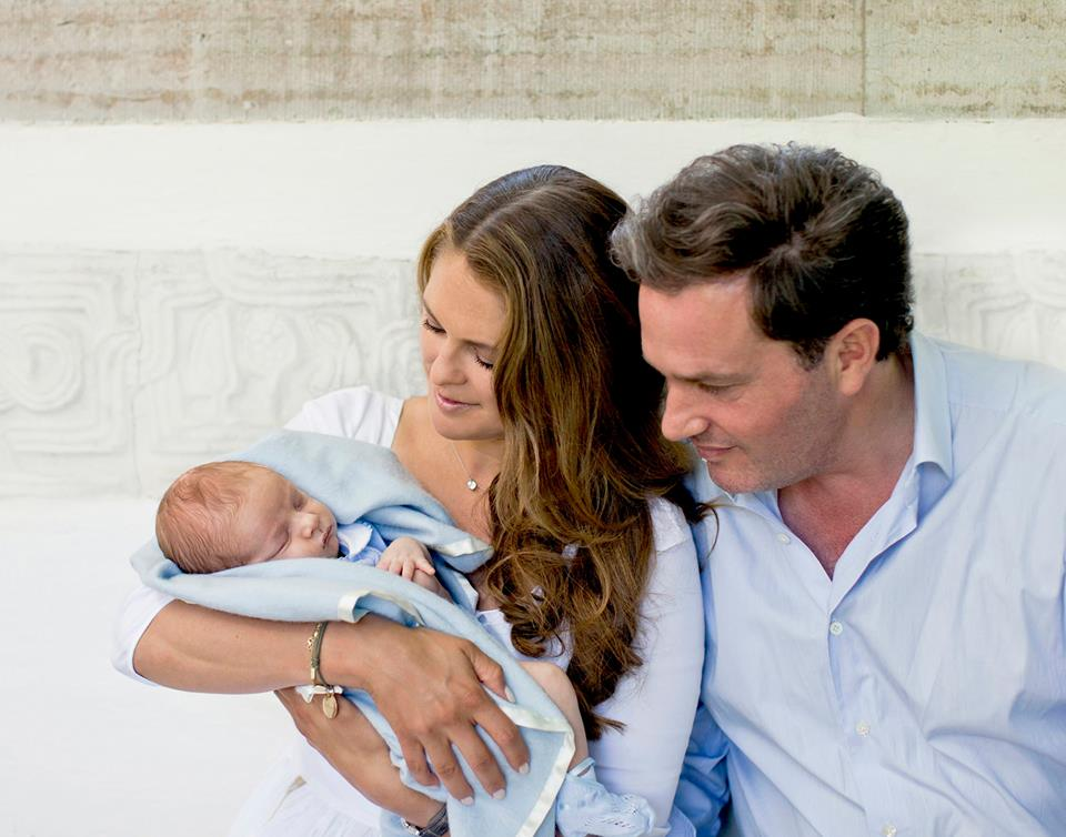 Princess Madeleine, Chris O'Neill and Prince Nicolas July 2015 2