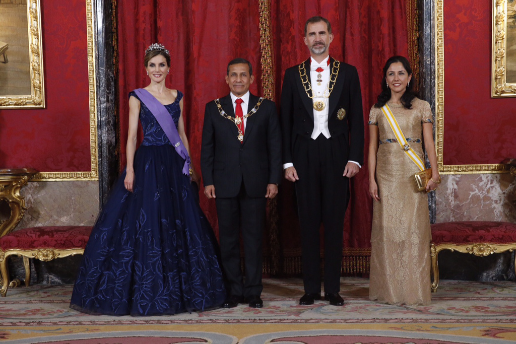 Queen Letizia, King Felipe, President of Peru Gala Dinner July 7 2
