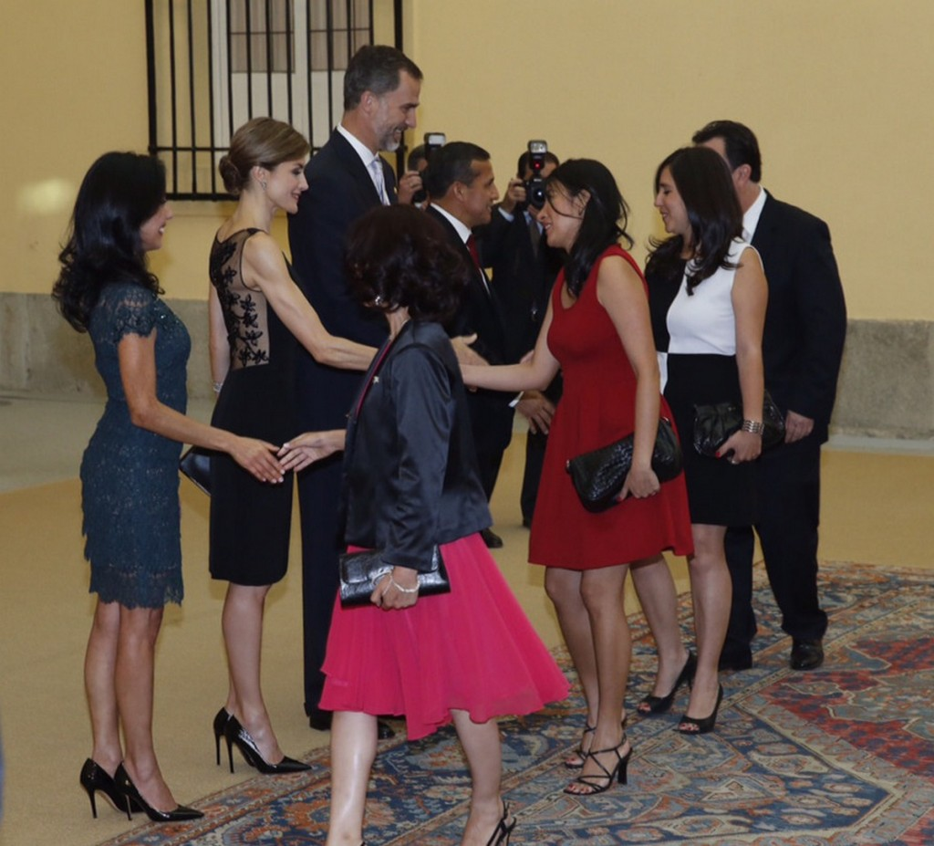 Queen Letizia, King Felipe, President of Peru reception July 8 2