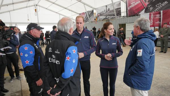 William and Kate meet NZ America's cup team