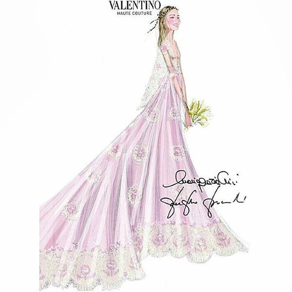 Beatrice Borremeo Valentino gown design