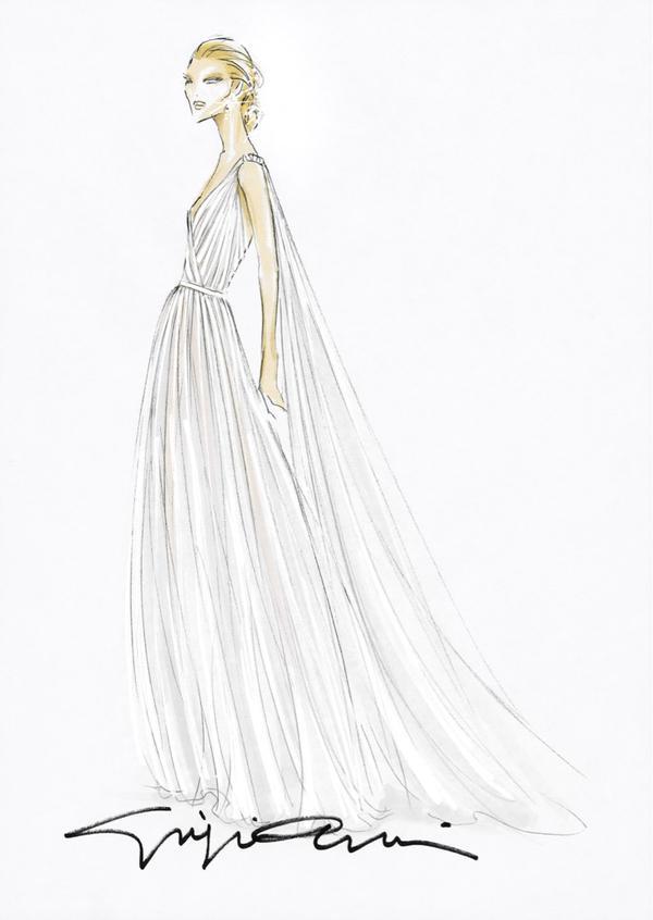Beatrice Borromeo Armani gown design