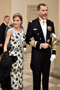 Felipe and Letizia at Margrethe's birthday gala