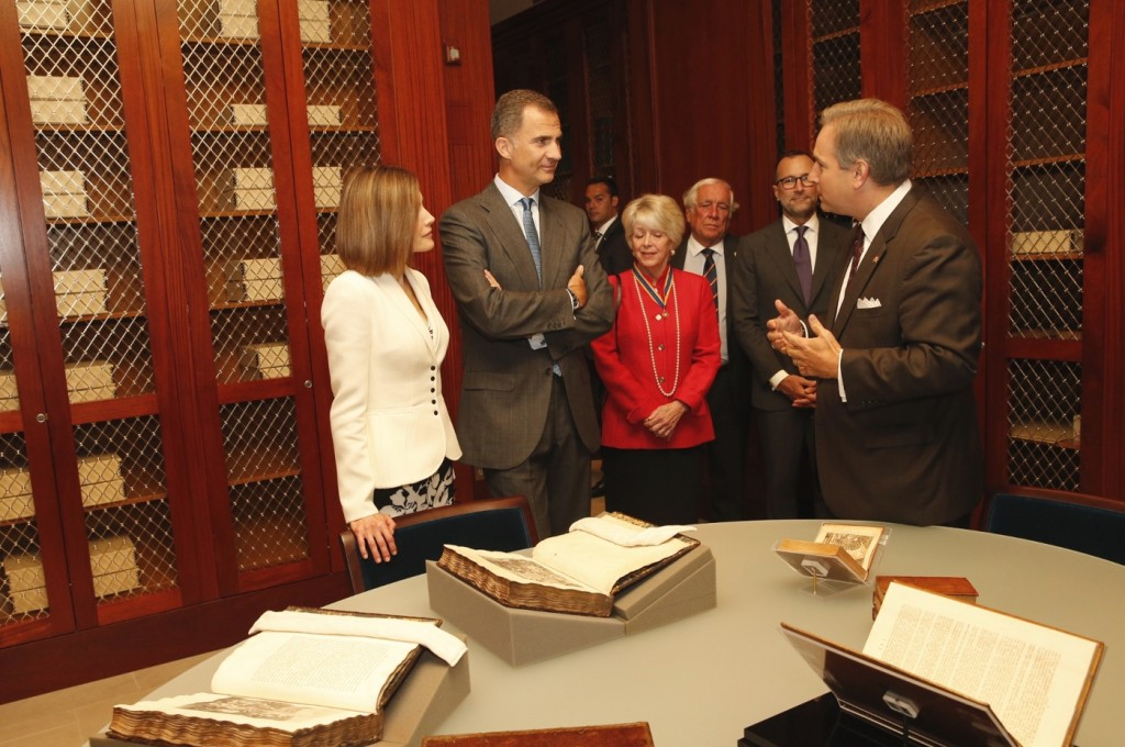 Letizia and Felipe at Fred W Smith National Library