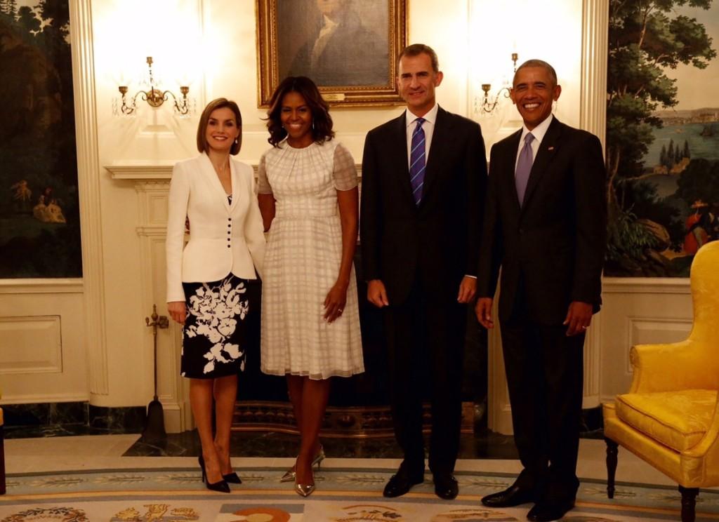 Letizia and Felipe with Barack and Michelle Obama