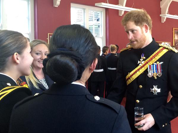 Prince Harry at Royal Military School