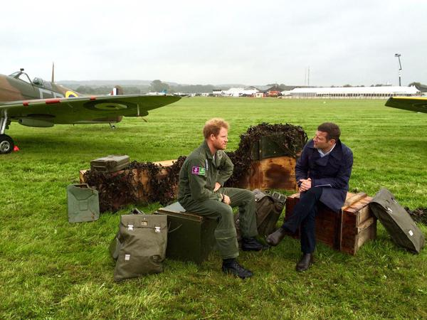 Prince Harry gives interview for Battle of Britain