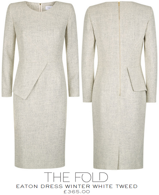 The Fold Eaton Dress Winter White Tweed