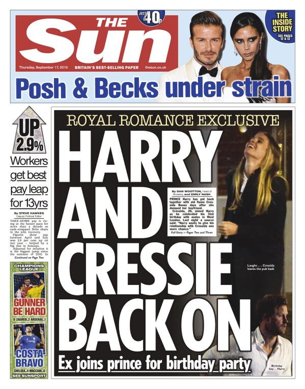 The Sun Harry and Cressida
