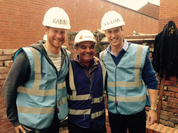 William and Harry tour DIY SOS site 2