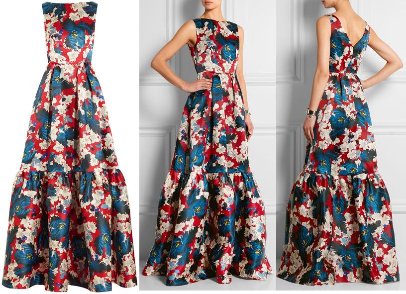 Erdem Alouette printed gown