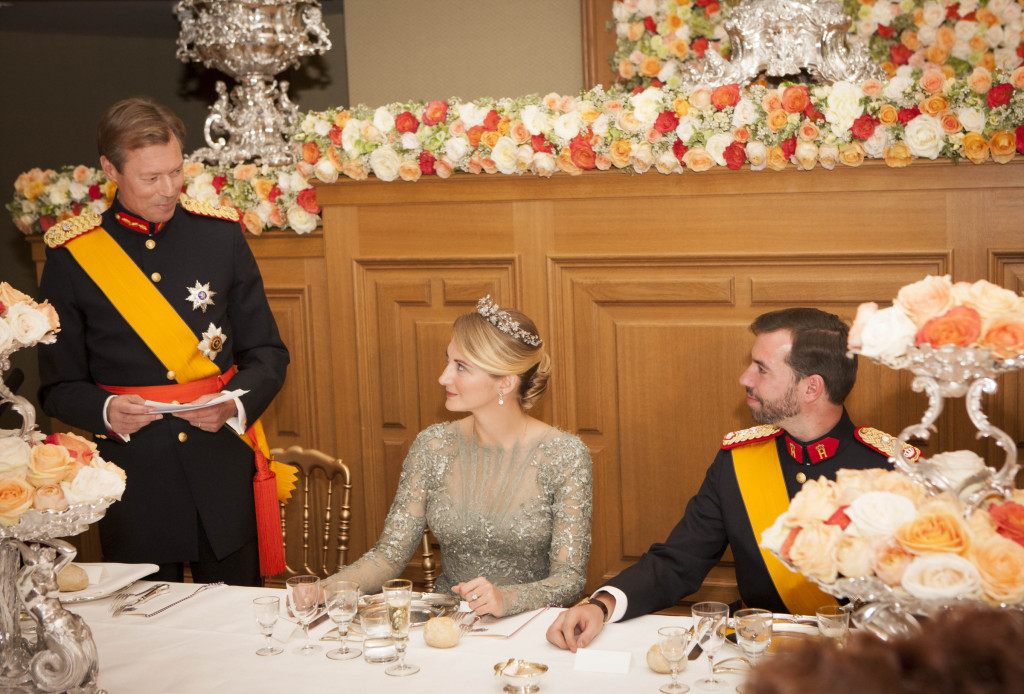 Guillaume and Stephanie Gala dinner at the Grand Ducal Palace