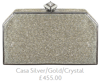 Jenny Packham Casa Silver Gold Crystal clutch
