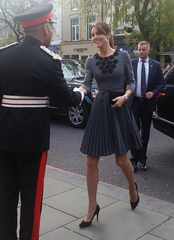 Kate arriving at Chance UK