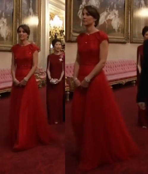 Kate red Jenny Packham gown