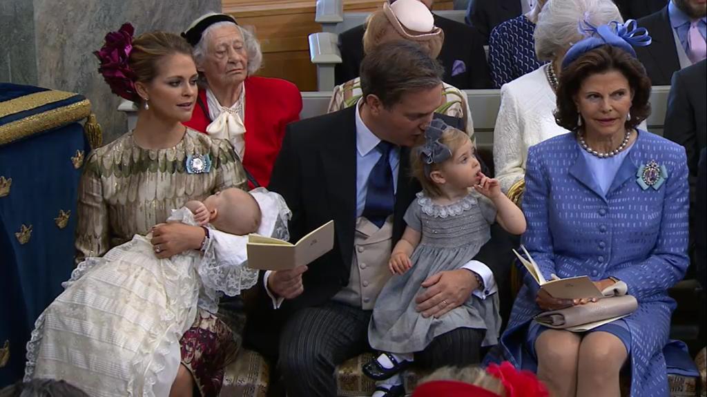 Madeleine, Chris, Leonore, Nicolas, Silvia at Prince Nicolas Christening