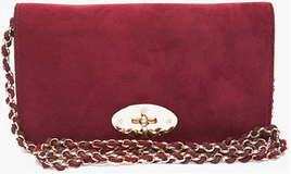Mulberry Bayswater burgundy clutch