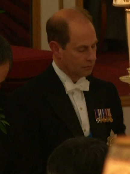 Prince Edward at China State Banquet