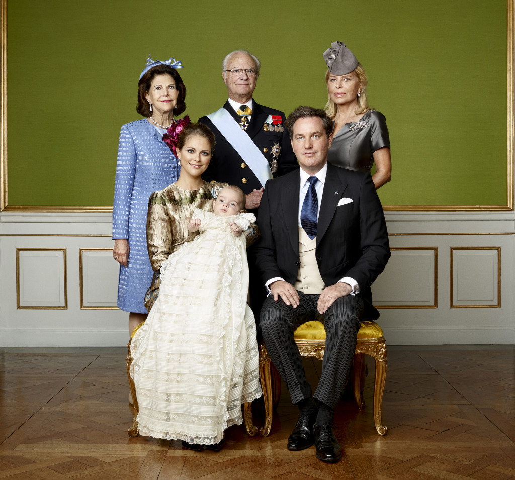 Prince Nicolas Christening photo parents