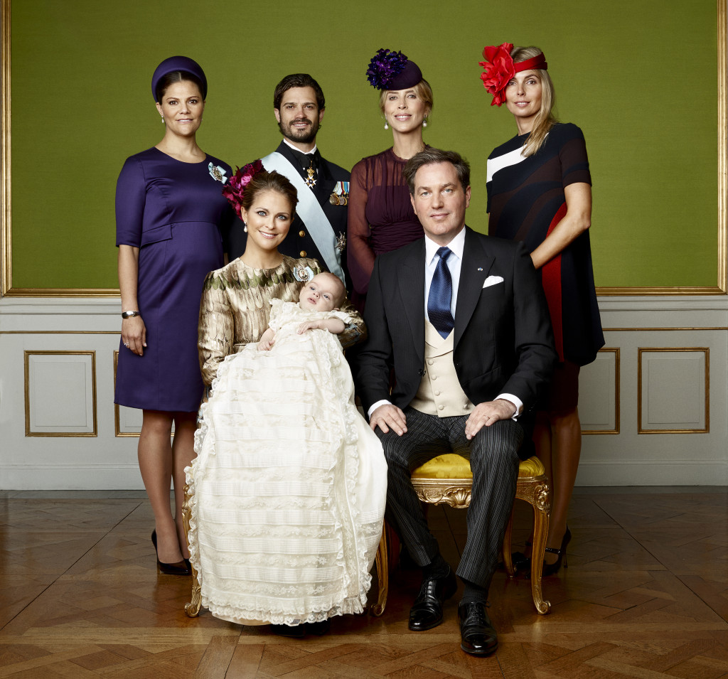 Prince Nicolas Christening photo siblings