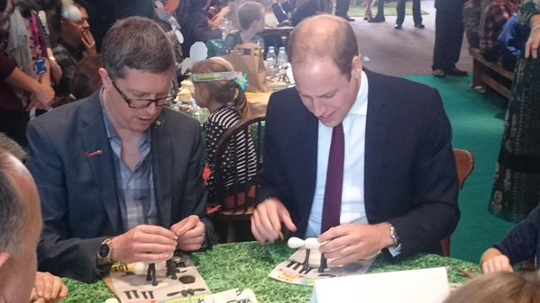 Prince William makes clay model