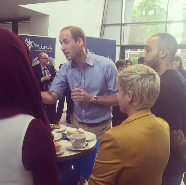 Prince William world mental health day reception