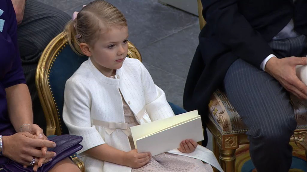 Princess Estelle at Prince Nicolas Christening