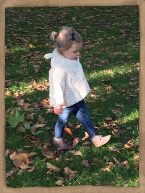 Princess Leonore walk in the park