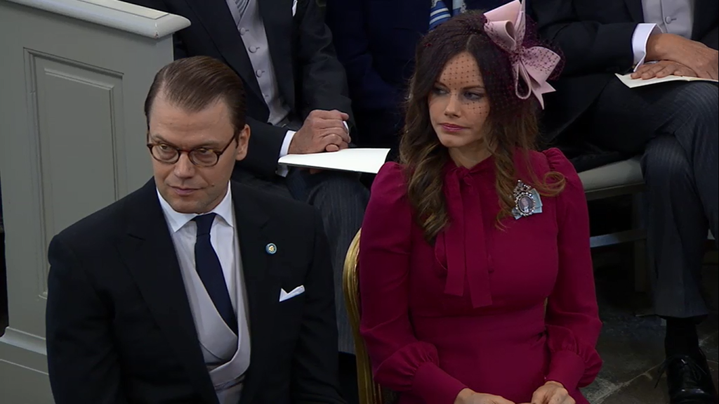 Sofia and Daniel at Prince Nicolas Christening