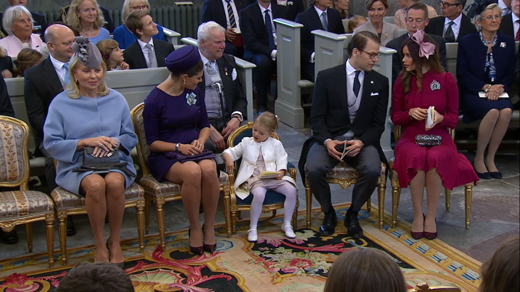Victoria, Estelle, Daniel, Sofia at Prince Nicolas Christening