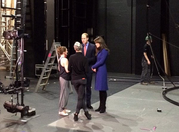 William and Kate at Dundee Rep Theatre