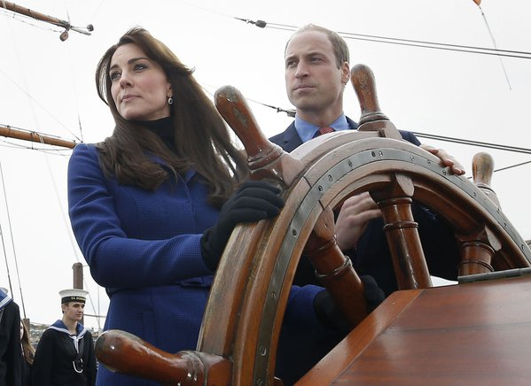 William and Kate on RRS Discovery
