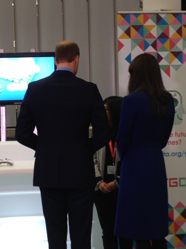 William and Kate with game designer