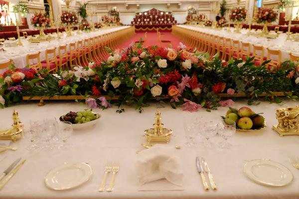 table for China state banquet