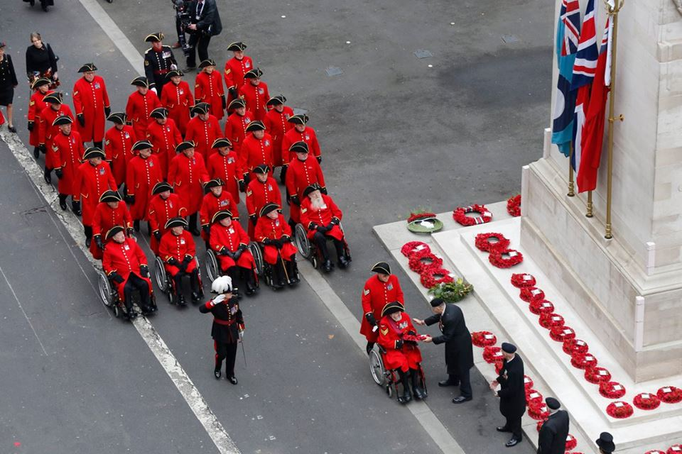 Chelsea Pensioners lay their wreaths